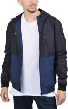 Emerson Mens Ribbed Jacket with Hood